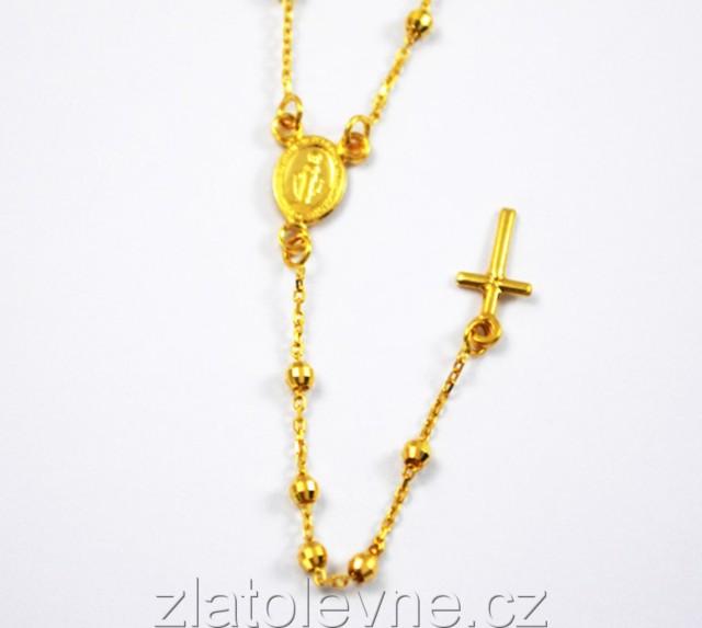 b8707828e Zlatý růženec 4,56g   Zlaté šperky, prsteny, řetízky   zlatolevne.cz