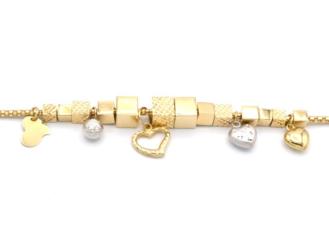 c6b5f8600 Zlatý náramek, typ Pandora 10,25g | Zlaté šperky, prsteny, řetízky ...