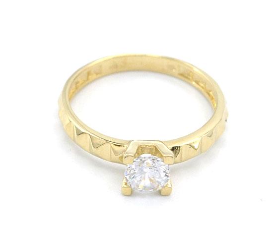 98ff4b5af Zlatý zásnubní prsten se zirkonem 2,00g | Zlaté šperky, prsteny ...