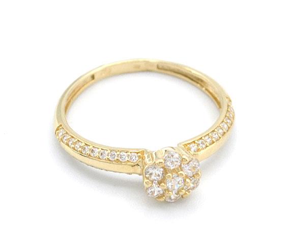 de9959463 Zlatý zásnubní prsten se zirkony 1,80g | Zlaté šperky, prsteny ...
