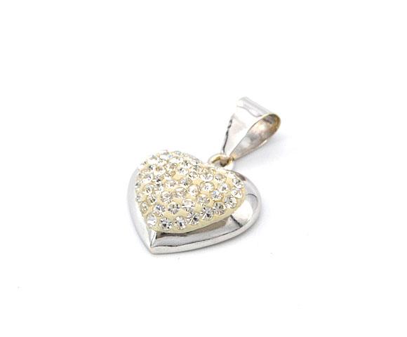 58b67907e Zlatý přívěsek srdce se zirkony 1,30g | Zlaté šperky, prsteny ...