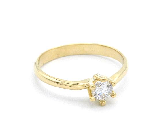e31b8e904 Zlatý zásnubní prsten se zirkonem 1,80g | Zlaté šperky, prsteny ...