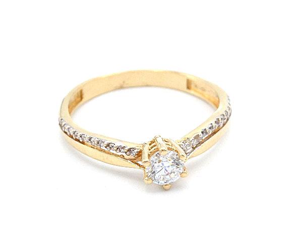 1df267795 Zlatý prsten se zirkony 2,15g | Zlaté šperky, prsteny, řetízky ...