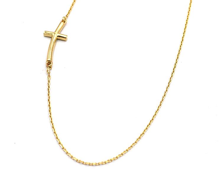 9adbe2cca Zlatý řetízek Ancer s křížkem na bok 1,85g