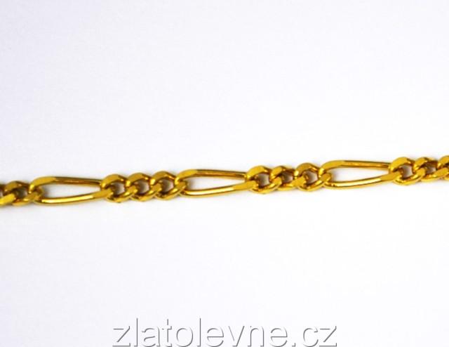 34a7cf2c4 Zlatý náramek Figaro 2,45g | Zlaté šperky, prsteny, řetízky ...
