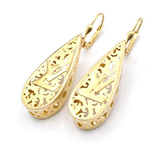 3993ae802 Zlatá souprava s LV prsten a náušnice 10,22g | Zlaté šperky, prsteny ...